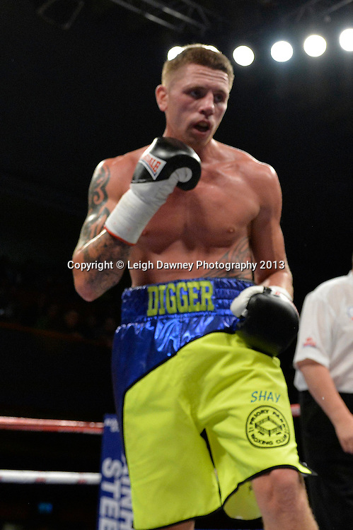 Ricky Summers defeats Curtis Gargano in a Light Heavyweight contest at Wolverhampton Civic Hall, Wolverhampton, 1st August 2014. Frank Warren in association with PJ Promotions.  © Credit: Leigh Dawney Photography.