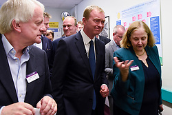 © Licensed to London News Pictures. 01/06/2017. London, UK.  Liberal Democrat Leader Tim Farron with senior hospital staff during a visit to Kingston Hospital.  Photo credit : Stephen Chung/LNP