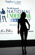 A model presents the latest lingerie fashions on the runway at the 6th Annual National Underwear Day event at Espace in New York City, USA on August 5, 2008.