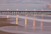 Bright lights of Kure Beach fishing pier