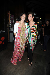 Left to right, ANYA WHEATLEY and VICTORIA FERNANDEZ at Maria Castani's birthday party held at Sketch, 9 Conduit St, London on 14th July 2008.<br /> <br /> NON EXCLUSIVE - WORLD RIGHTS