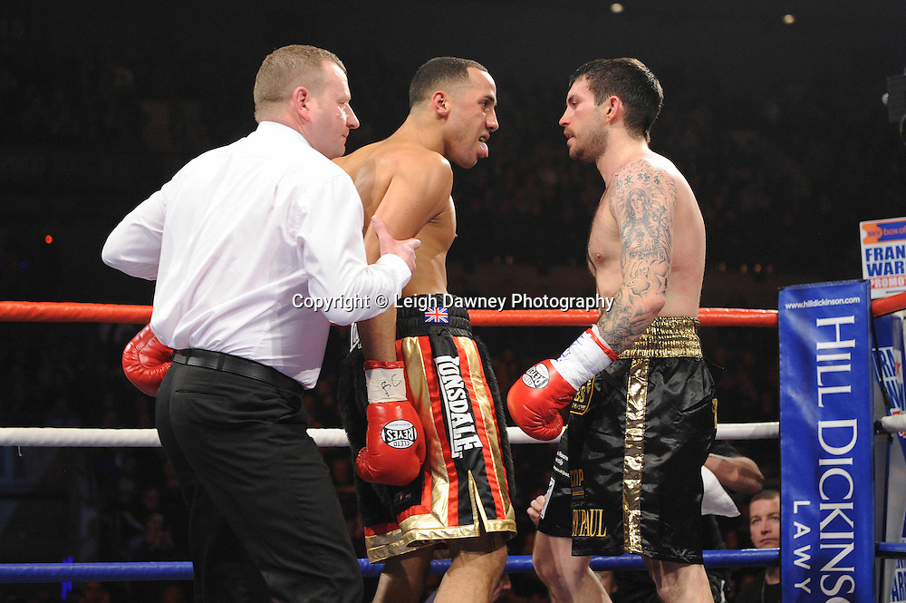 "James DeGale MBE defeats Paul Smith at the Echo Arena, Liverpool,11th December 2010,Frank Warren.tv Promotions ""Return Of The Magnificent Seven"" © Photo Leigh Dawney"