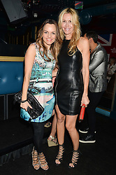 Left to right, MARIA HATZISTEFANIS and MELISSA ODABASH at a summer party hosted by Jo Wood & Yasmin Mills at Boujis, 43 Thurloe Street, London on 9th July 2014.