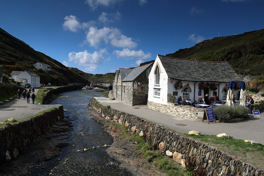 The quaint little harbour village of Boscastle in northern Cornwall
