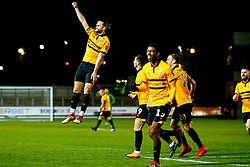 Fraser Franks of Newport County celebrates his sides first goal of the game  - Mandatory by-line: Ryan Hiscott/JMP - 11/12/2018 - FOOTBALL - Rodney Parade - Newport, Wales - Newport County v Wrexham - Emirates FA Cup second round proper