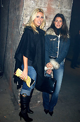 Left to right, BEVERLEY BLOOM and NATALYA MANOUKIAN at a party for De Beers to celebrate the launch of their Rough diamond •Talisman Collectionê held at Shunt Vaults, London Bridge, London SE1 on 28th November 2005.<br />