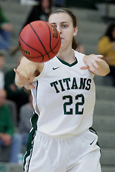 12 December 2015:  Alina Lehocky during an NCAA women's basketball game between the Wisconsin Stevens Point Pointers and the Illinois Wesleyan Titans in Shirk Center, Bloomington IL