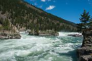 Waters raging at Kootenai Falls