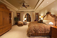 Comfortable big bed in luxury manor house