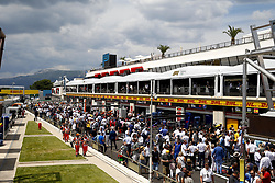 June 24, 2018 - Le Castellet, France - Motorsports: FIA Formula One World Championship 2018, Grand Prix of France, .Overview pit lane  (Credit Image: © Hoch Zwei via ZUMA Wire)