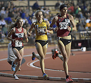 Gwen Jorgensen, Karissa Schweizer of Missouri and Carrie Dimoff lead the women's 10,000m in the Stanford Invitational in Stanford, Calif., Friday, Mar 30, 2018. Jorgensen won in 31:55.68. Dimoff was second in 31:57.85 and Schweizer was third in 32:00.55. (Gerome Wright/Image of Sport)