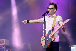 Image ©Licensed to i-Images Picture Agency. 04/07/2014. Oxford, United Kingdom. Cornbury Festival. The Feeling (Dan Gillespie-Sells pictured) perform at Cornbury Music Festival. Picture by i-Images