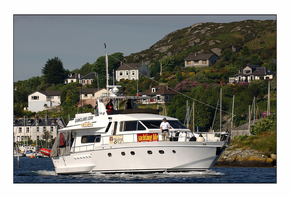 Racing at the Bell Lawrie Yachting Series in Tarbert Loch Fyne. Sunday racing was dominated by light winds...San Clare - The press launch...