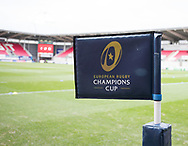 A general view of Parc Y Scarlets, home of Scarlets banner, flag<br /> <br /> Photographer Simon King/Replay Images<br /> <br /> EPCR Champions Cup Round 3 - Scarlets v Benetton Rugby - Saturday 9th December 2017 - Parc y Scarlets - Llanelli<br /> <br /> World Copyright © 2017 Replay Images. All rights reserved. info@replayimages.co.uk - www.replayimages.co.uk