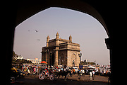 Gateway to India, a landmark monument, is seen from the Taj Hotel on the banks of the Arabian Sea in Mumbai, India..Photo by Suzanne Lee