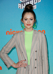 March 23, 2019 - Los Angeles, CA, USA - LOS ANGELES, CA - MARCH 23: Olivia Sanabia attends Nickelodeon's 2019 Kids' Choice Awards at Galen Center on March 23, 2019 in Los Angeles, California. Photo: CraSH for imageSPACE (Credit Image: © Imagespace via ZUMA Wire)