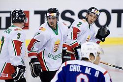 Omar Ennaffati of Hungary at IIHF Ice-hockey World Championships Division I Group B match between National teams of Korea and Hungary, on April 17, 2010, in Tivoli hall, Ljubljana, Slovenia. Hungary defeated Korea 4-2. (Photo by Matic Klansek Velej / Sportida)