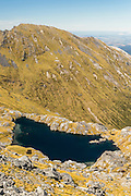 Lakes and tarns up on Mount Burns, Fiordland