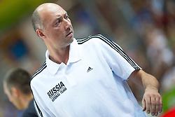 04.09.2013, Arena Bonifka, Koper, SLO, Eurobasket EM 2013, Russland vs Italien, im Bild Vasiliy Karasev, head coach of Russia // during Eurobasket EM 2013 match between Russia and Italy at Arena Bonifka in Koper, Slowenia on 2013/09/04. EXPA Pictures © 2013, PhotoCredit: EXPA/ Sportida/ Matic Klansek Velej<br /> <br /> ***** ATTENTION - OUT OF SLO *****