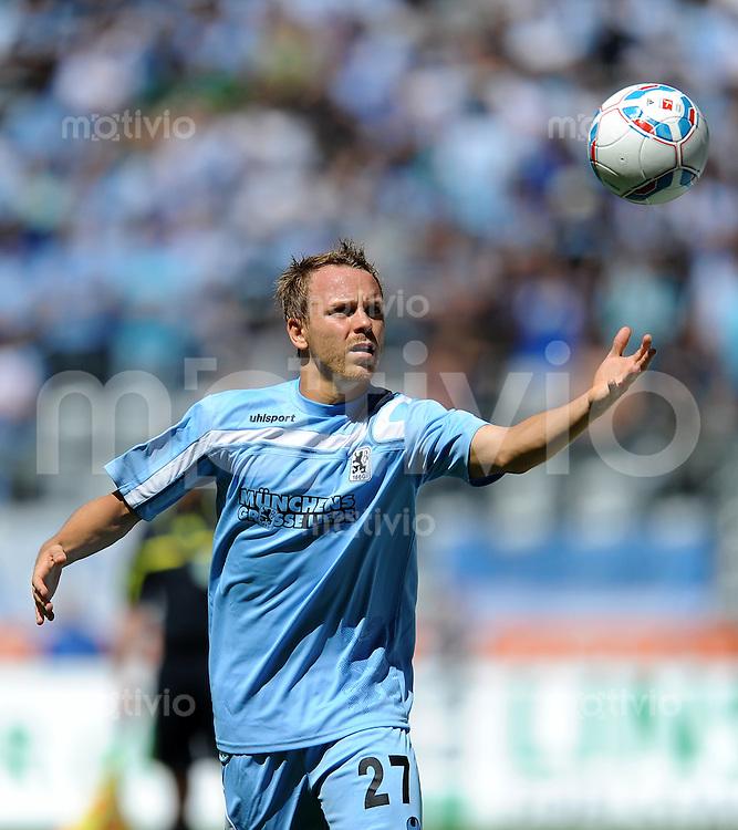 2. Fussball Bundesliga:  Saison   2011/2012,    2.  Spieltag  TSV 1860 Muenchen - FC Erzgebirge Aue  14.08.2011 Arne Feick (1860 Muenchen)