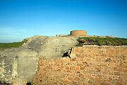 Fort Hommer, German second world war gun battery, Guernsey, Channel Islands, UK