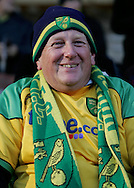Burnley - Saturday November 1st, 2008: Norwich City fan prior to the game against Burnley during the Coca Cola Championship match at Turf Moor, Burnley. (Pic by Michael Sedgwick/Focus Images)