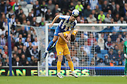 Brighton & Hove Albion defender Shane Duffy (22) during the EFL Sky Bet Championship match between Brighton and Hove Albion and Preston North End at the American Express Community Stadium, Brighton and Hove, England on 15 October 2016.