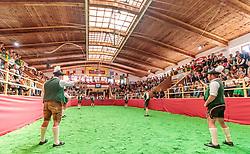 29.04.2018, Maishofen, AUT, XII Weltkongress Pinzgauer Rind, im Bild Goaßlschnalzer // Whipcrackers during the XII Pinzgauer cattle World Congress in Maishofen, Austria on 2018/04/29. EXPA Pictures © 2018, PhotoCredit: EXPA/ JFK