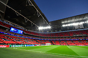 General View inside Wembley Stadium under the floodlights before the Champions League match between Tottenham Hotspur and Barcelona at Wembley Stadium, London, England on 3 October 2018.