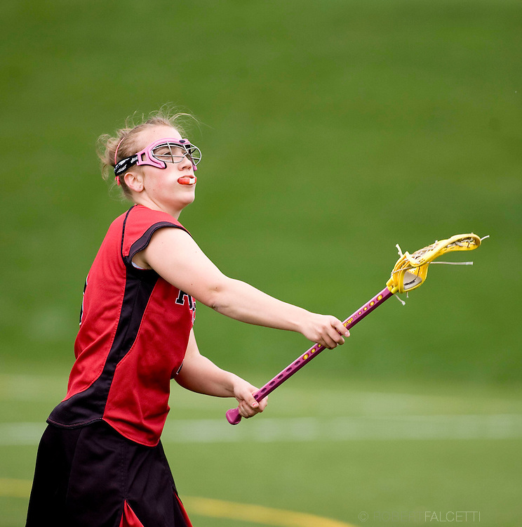 The Pomfret School, Pomfret, CT. 2010-2011. Girls Varsity Lacrosse.  (Photo by Robert Falcetti). .