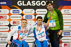 GRANICHKA Andrei, BOCCIARDO Francesco, MCDONALD Darragh RUS, ITA, IRL at 2015 IPC Swimming World Championships -  Men's 400m Freestyle S6
