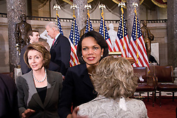 A touching moment as Condoleezza Rice with Annette Lantos, the widow of her friend Congressman Tom Lantos, at services in the US Capitol Building. A moment where party lines were dissolved in showing respect for a colleague.