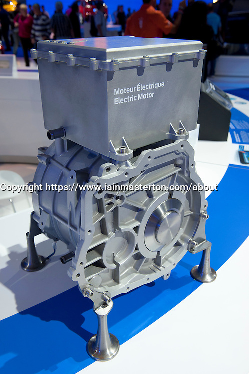 Ford auto electric motor on display at Paris Motor Show 2010