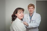 Trabajadores del Centro de Salud Copec. 17-12-2013 (©Alvaro de la Fuente/Triple.cl)