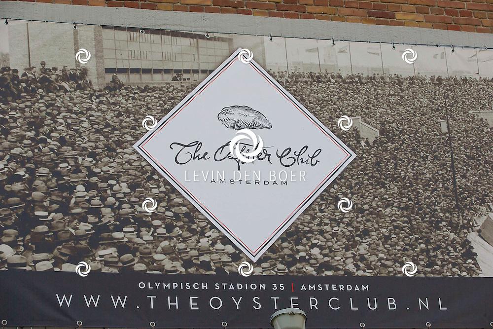 AMSTERDAM - Talkies Lifestylelunch bij The Oyster Club is een jaarlijks event. Met hier op de foto het logo van de The Oyster Club. FOTO LEVIN DEN BOER - PERSFOTO.NU