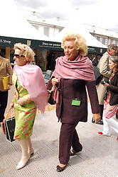 Right, Multi millionaire KIRSTEN RAUSING at the 2008 Chelsea Flower Show 19th May 2008.<br />
