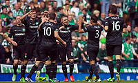 Football - Scottish Cup Final - Celtic vs Hibernian<br /> <br /> Gary Hooper celebrates scoring for Celtic during the Scottish Cup Final between Celtic and Hibernian at Hampden Stadium, Glasgow<br /> 26th May 2013<br /> <br /> Colorsport