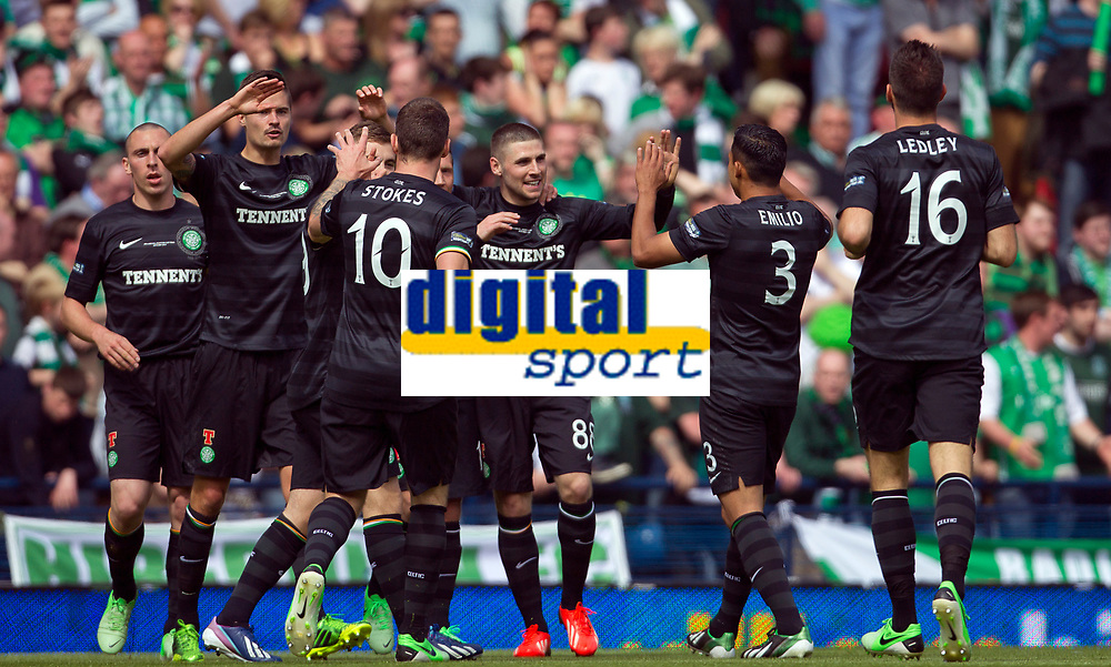 Football - Scottish Cup Final - Celtic vs Hibernian<br /> <br /> Gary Hooper celebrates scoring for Celtic during the Scottish Cup Final between Celtic and Hibernian at Hampden Stadium, Glasgow<br /> 26th May 2013<br /> <br /> Colorsport