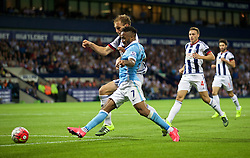 WEST BROMWICH, ENGLAND - Monday, August 10, 2015: Manchester City's Raheem Sterling in action against West Bromwich Albion during the Premier League match at the Hawthorns. (Pic by David Rawcliffe/Propaganda)