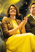 Liberal Democrats<br /> Autumn Conference 2011 <br /> at the ICC, Birmingham, Great Britain <br /> <br /> 17th to 21st September 2011 <br /> <br /> <br /> Miriam Gonzalez Durantez & Rt Hon Danny Alexander MP <br /> watching Nick Clegg's speech <br /> <br /> <br /> Rt Hon Nick Clegg MP<br /> Leader of the Liberal Democrats<br /> Deputy Prime Minister<br /> Speech <br /> <br /> Photograph by Elliott Franks