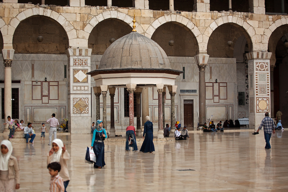 Courtyard of Umayyad Mosque, Damascus