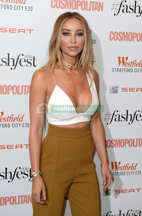 Lauren Pope attending the Cosmopolitan FashFest 2016, Old Billingsgate Market, London. Picture credit should read: Doug Peters/EMPICS Entertainment