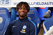 Peterborough United forward Ivan Toney (17) on the bench before the EFL Sky Bet League 1 match between Peterborough United and Portsmouth at London Road, Peterborough, England on 15 September 2018.