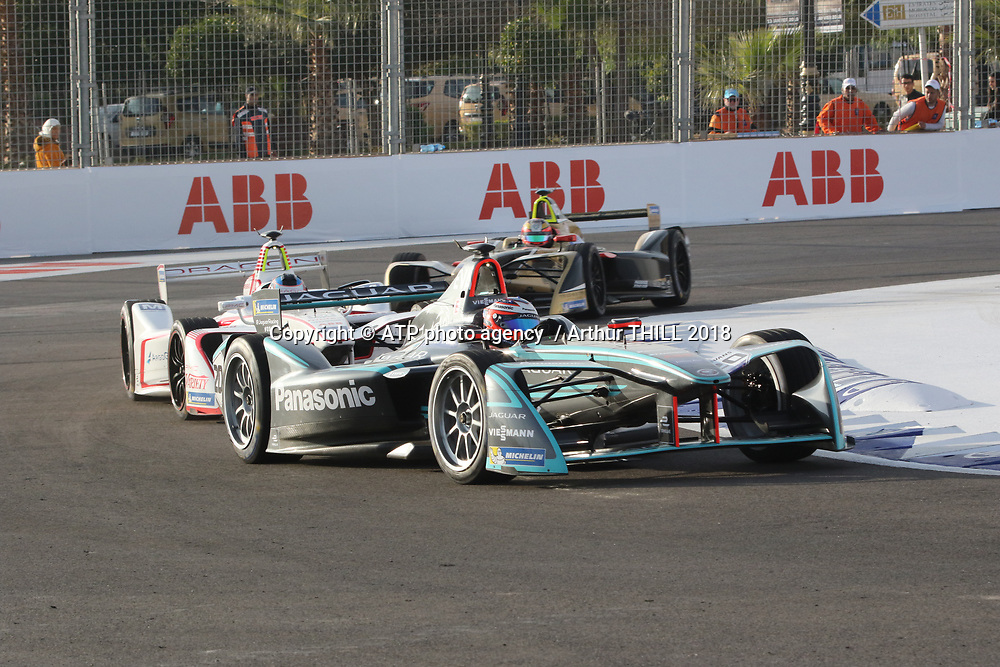 20, Mitch Evans (NZL) - Panasonic Jaguar Racing, Jaguar I-Type 2<br /> E-Prix, FIA Formula E, Formula E Grand Prix in Marrakesh, Morocco on 13 January 2018. Circuit International Automobile Moulay El Hassan -  Formel E, Elektro e-prix Autorennen, Marrakesch, Marokko, Maroc, <br /> fee liable image, copyright@ ATP Arthur THILL