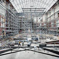 Nederland,Amsterdam , 8 juli 2009. .The renovation and rebuilding of the Rijksmuseum in Amsterdam..Verbouwing en renovatie van het Rijksmuseum..Amsterdam, construction, museum, rebuilding, renovation, Rijksmuseum, The Netherlands..Foto:Jean-Pierre Jans