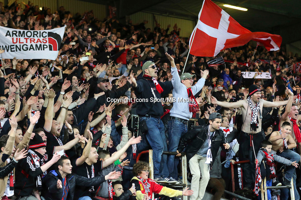 Supporters GUINGAMP - 14.12.2014 - Guingamp / Paris Saint Germain - 18eme journee de Ligue 1<br />