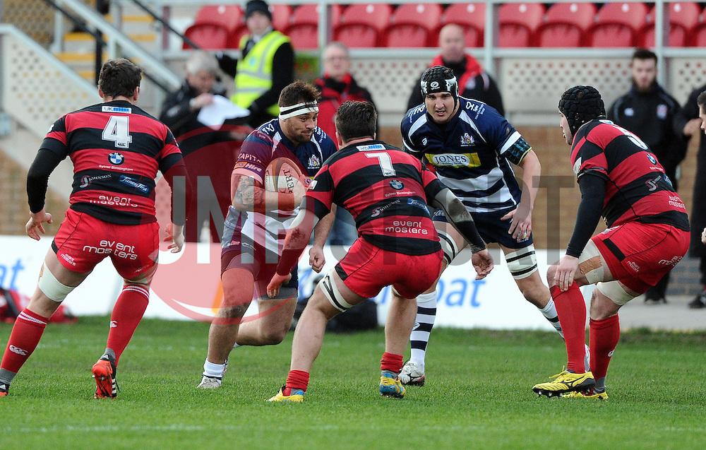 Bristol Rugby Flanker Jack Lam  - Mandatory byline: Joe Meredith/JMP - 05/12/2015 - RUGBY - Billesley Common - Birmingham, England - Moseley v Bristol Rugby - Greene King IPA Championship