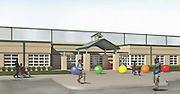 Rendering of the new North Forest Early Childhood Center