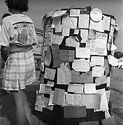 Social networking, at Glastonbury, 1989.