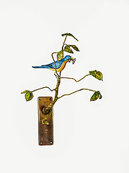 Unique artistic assemblages with bird theme.